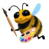 abeja del artista 3d Foto de archivo libre de regalías