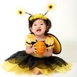Abeja del bebé lista para Halloween Imágenes de archivo libres de regalías