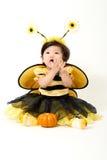 Abeja del bebé lista para Halloween Imagenes de archivo