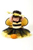 Abeja del bebé lista para Halloween Fotos de archivo