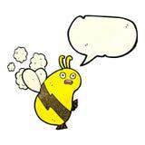 abeja divertida de la historieta con la burbuja del discurso Fotografía de archivo