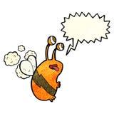 abeja divertida de la historieta con la burbuja del discurso Imágenes de archivo libres de regalías