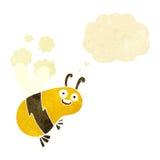 abeja divertida de la historieta con la burbuja del pensamiento Fotografía de archivo libre de regalías