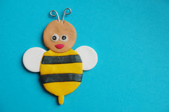 Abeja divertida de la miel Imágenes de archivo libres de regalías