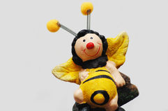 Abeja divertida de la miel Foto de archivo libre de regalías