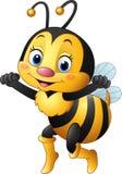 abeja feliz de la historieta stock de ilustración