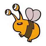 abeja feliz de la historieta cómica Foto de archivo