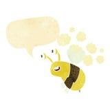 abeja feliz de la historieta con la burbuja del discurso Fotos de archivo libres de regalías