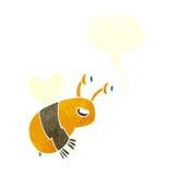 abeja feliz de la historieta con la burbuja del discurso Imágenes de archivo libres de regalías
