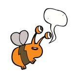 abeja feliz de la historieta con la burbuja del discurso Foto de archivo libre de regalías