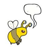 abeja feliz de la historieta con la burbuja del discurso Imagenes de archivo