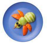 Abeja hecha de frutas frescas Imagen de archivo