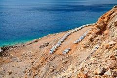 Abeja-jardín cerca del mar de Mediterranian Fotografía de archivo
