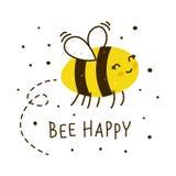 Abeja linda de la miel aislada libre illustration