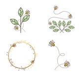 Abeja Logo Design Set stock de ilustración