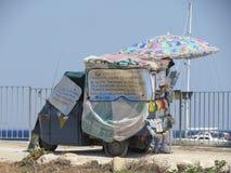 Abeja particular Sicilia típica que camina Imagen de archivo libre de regalías