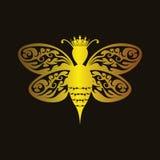 Abeja reina de lujo ilustración del vector