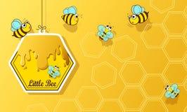 Abeja y miel Imágenes de archivo libres de regalías