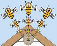 abejas Imagen de archivo libre de regalías