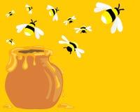 Abejas de la miel ilustración del vector