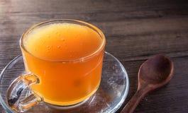 Abejas de la miel en cristal Fotos de archivo