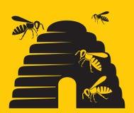 Icono de la abeja Fotografía de archivo