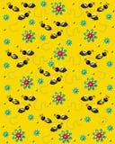 Abejas en el zumbido en amarillo brillante libre illustration