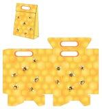 Abejas y el panal de la abeja El bolso empaqueta el modelo ilustración del vector