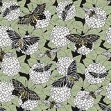 Abejas y mariposas stock de ilustración