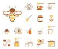 Abejas y miel - Iconset - iconos stock de ilustración