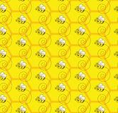 Abejorro Honey Colony Seamless Pattern Background Fotos de archivo