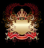 Abel in the manner of heraldic sign Royalty Free Stock Photo