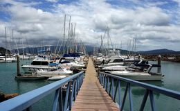 Abel Point Marina, Airlie Beach, Australia. Luxurious Yachts and sailing boats. Royalty Free Stock Image