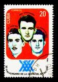 Abel Santamaria, Jose Luis Tasende et Boris Luis Santa Colo, à Images stock