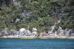 Abel Tasman kajaker Fotografering för Bildbyråer