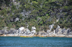 Abel Tasman kayaks Stock Image