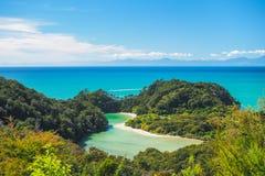 Abel Tasman National Park Ergens in Nieuw Zeeland royalty-vrije stock foto
