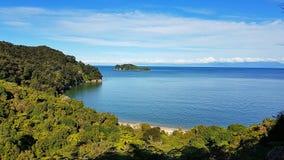 Abel Tasman National Park-gezichtspuntbeeld royalty-vrije stock foto's