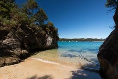 Abel Tasman nationalpark Nya Zeeland Fotografering för Bildbyråer