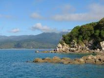 Abel Tasman nationalpark Nya Zeeland Arkivfoto
