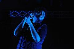 Abel Tesfaye, cantor da faixa de Weeknd Fotos de Stock