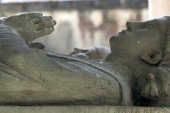 Abelard och Heloise gravvalv i Paris i den historiska Pere Lachaise Cemetery Fotografering för Bildbyråer