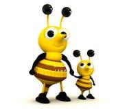 abelha 3D bonito Fotografia de Stock Royalty Free