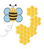 Abelha com Honey Comb ilustração royalty free