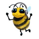 abelha da música 3d Imagem de Stock Royalty Free
