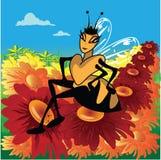 A abelha de rainha ilustração royalty free