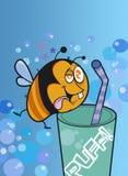 A abelha engraçada Fotos de Stock