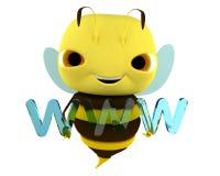 Abelha WWW Imagens de Stock