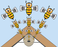 abelhas Imagem de Stock Royalty Free