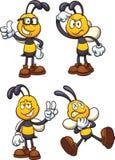 Abelhas dos desenhos animados ilustração stock